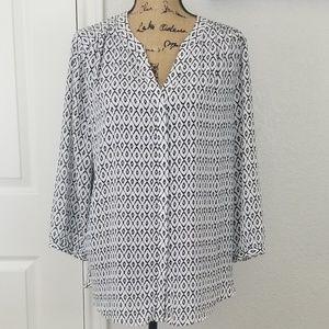 NYDJ blouse sz L